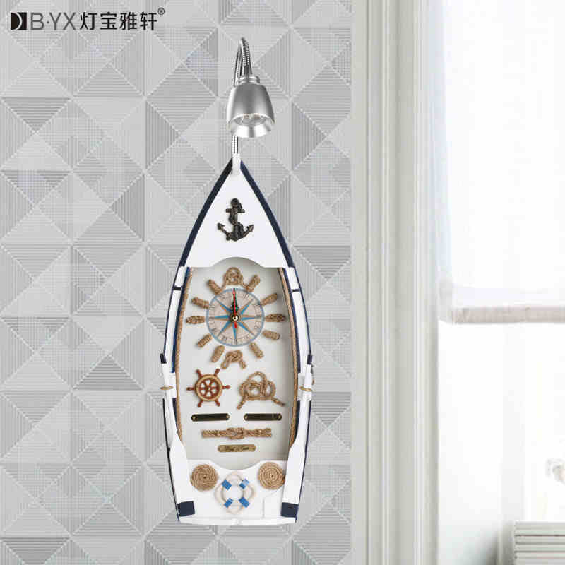 ФОТО 2016 new The ship children children's room bedroom bedside wall lamp LED lighting creative restaurant
