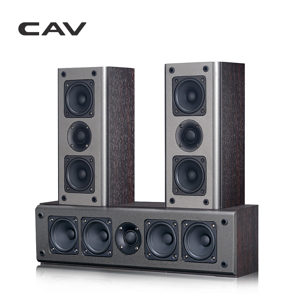 CAV SP950CS High-end Home Theater 5.0 DTS Wooden Passive Speaker Center Surround Sound Speakers System Coaxial Transmission pablosky pablosky сандалии открытые розовое серебро