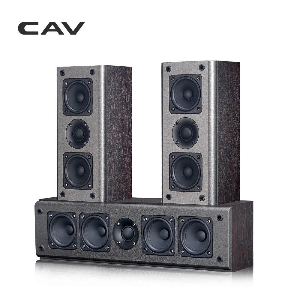 CAV SP950CS Home-Cinéma Haut de gamme 5.0 DTS haut-Parleur Passif En Bois Center Haut-parleurs Ambiophoniques Système Transmission Coaxiale