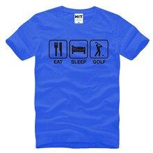 Eat Sleep Golf Funny Creative Novelty Men's T-Shirt T Shirt For Men 2016 New Short Sleeve O Neck Cotton Top Tee Camisetas Hombre