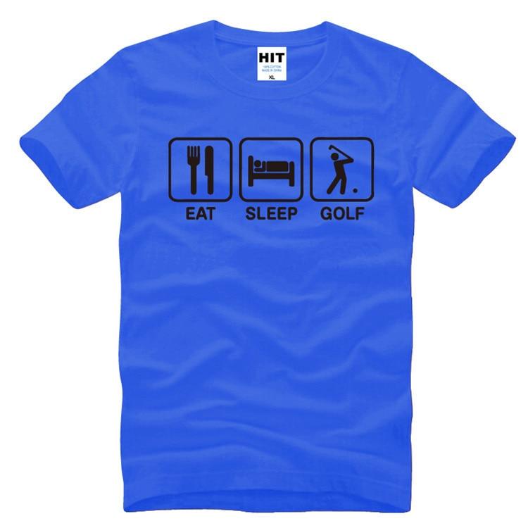 Eat Sleep Golf Funny Creative Novelty Mens T-Shirt T Shirt For Men 2016 New Short Sleeve O Neck Cotton Top Tee Camisetas Hombre