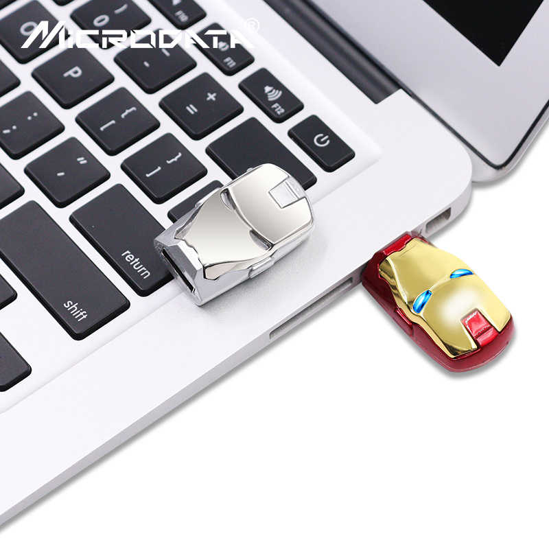 Atacado vingadores homem de ferro led pen drive usb pen drive 64gb 16gb 32gb 8gb pendrive cartão de memória pendrive