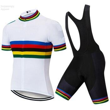 Pro UCI equipo Ciclismo conjunto blanco 2019 personalizado Ciclismo Jersey bicicleta pantalones...