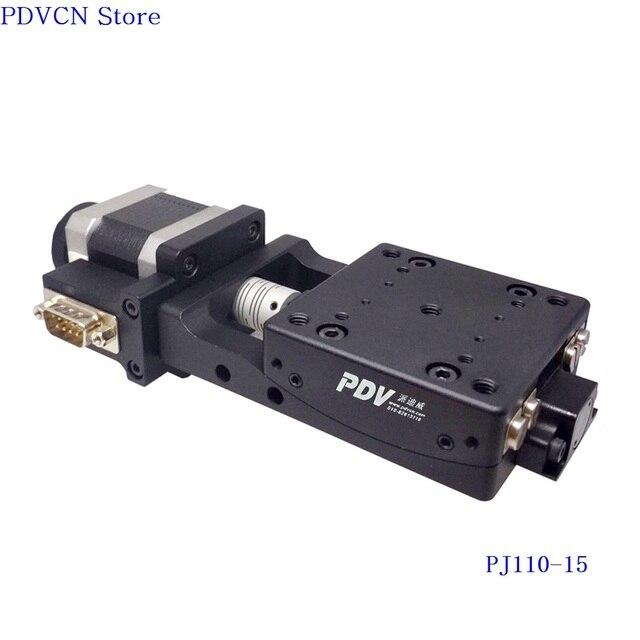 Z 축 PJ110 15 전동 Goniometer 스테이지, 전기 회전 각도계 플랫폼, 회전 범위: +/ 15도