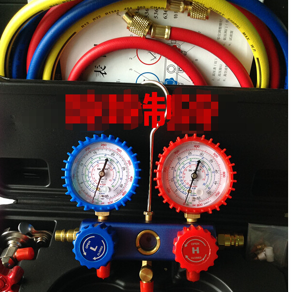 For R22 410 R134a -Car home fluoride table pressure gauge cold medium double gauge valve air conditioning repair tool