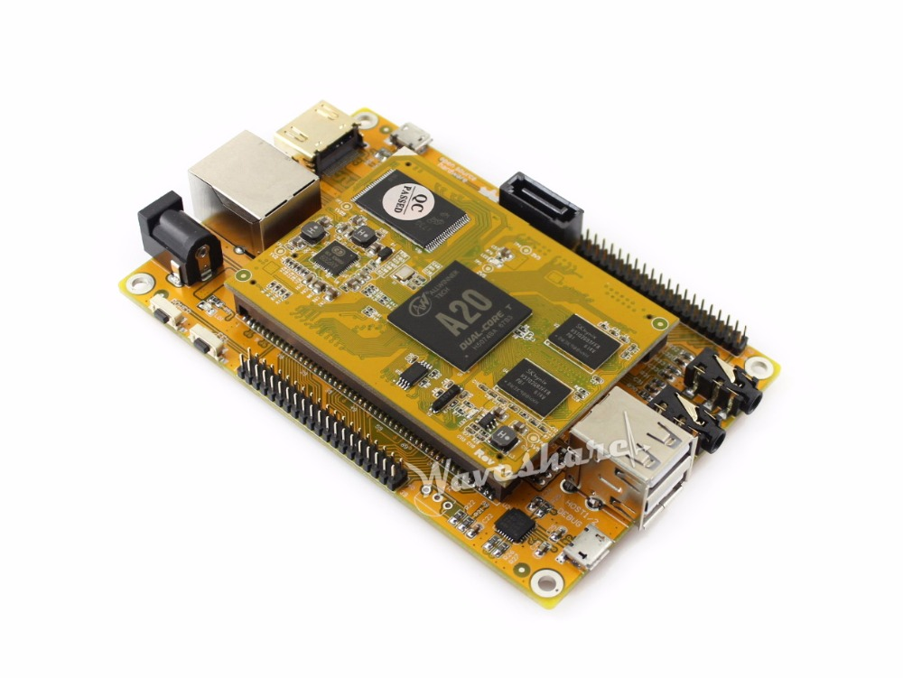 MarsBoard A20 Lite mini PC Allwinner A20 Dual core ARM Cortex A7 Mali-400 GPU Flexible Designed 1GB DDR3 8GB Nand Flash