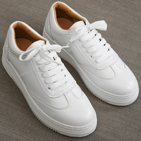 White Women Sneakers Platform Causal Shoes Lace Up Canvas Shoes Trainers Basket Femme Black Sapato Feminino