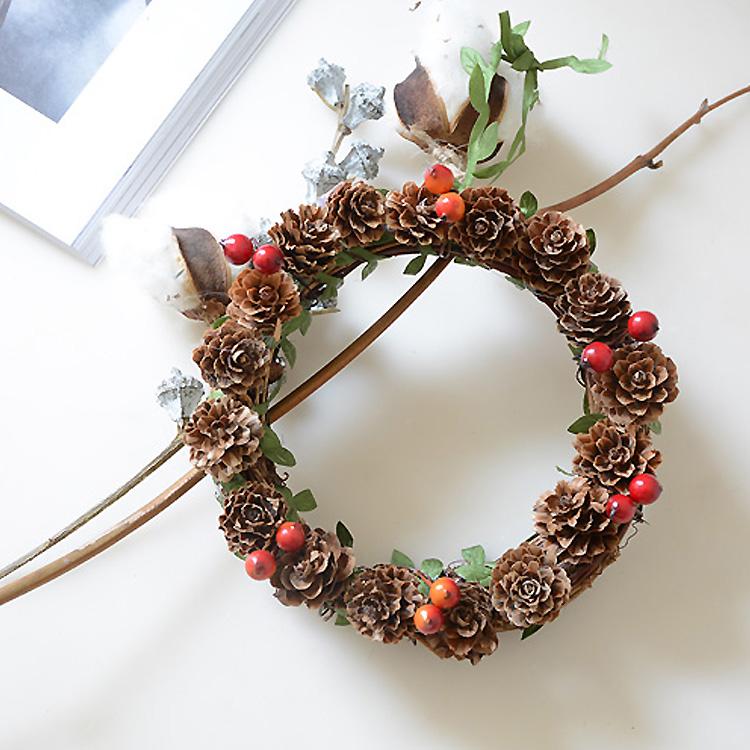 flores secas naturales pequea pia corona de navidad del partido del anillo colgante habitacin guirnalda de