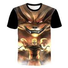 Hot Sale Naruto T Shirt Men Anime Clothes City Character Tshirt Japan Style Space Print T-shirt Funny Shirts Cool Mens