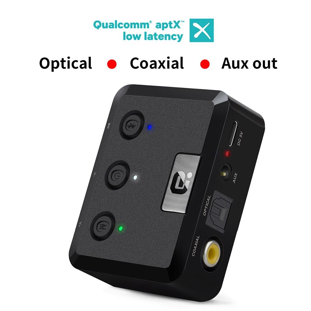 MR235 Bluetooth 5.0 aptX faible latence récepteur Audio sans fil 3.5mm Aux Bluetooth adaptateur récepteur Audio pour voiture, haut-parleurs