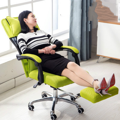 New Ergonomic Office Chair Reclining Swivel Mesh Cloth Computer Chair Lying  Lifting Adjustable Two Back Cushions ...