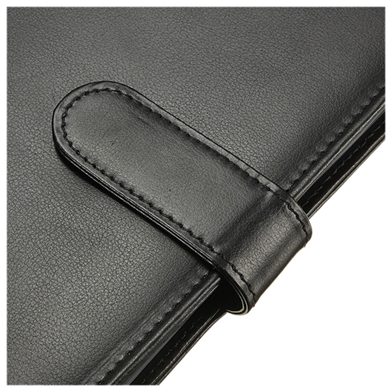 Black A4 Executive Conference Folder Portfolio PU Leather Document Organiser kicute executive conference folder pu portfolio zipped leather look folder document organiser document holder office supplies