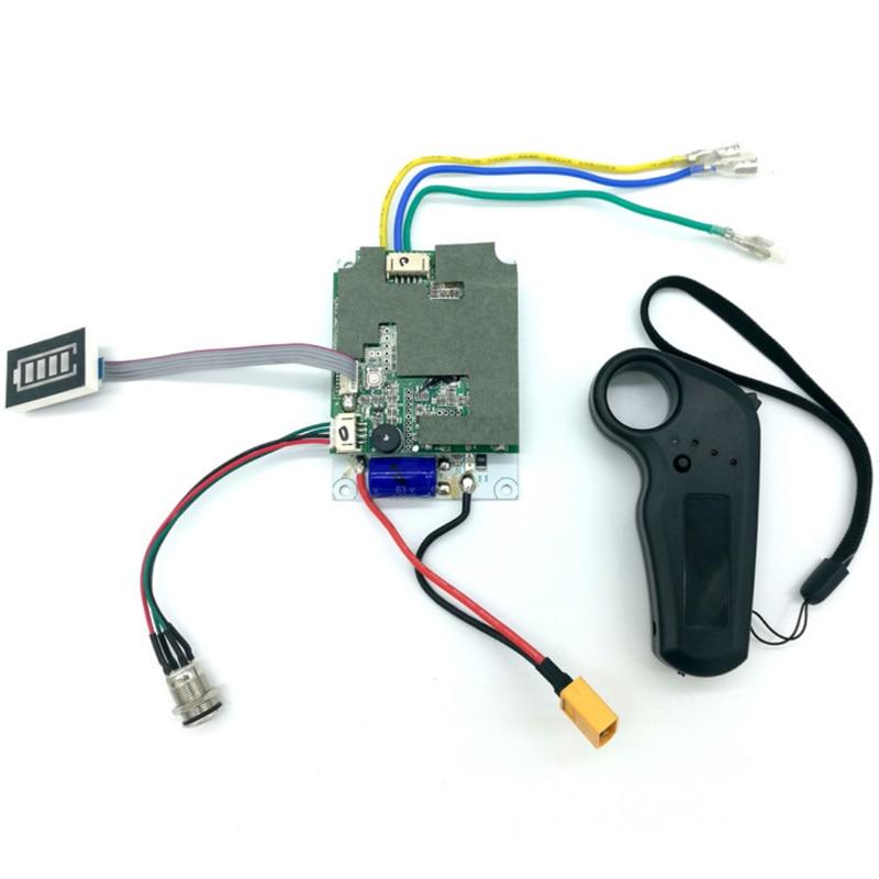 24 36V Single Belt Motor Electric Skateboard Controller Longboard ESC Substitute Set Parts Scooter Mainboard Instrument