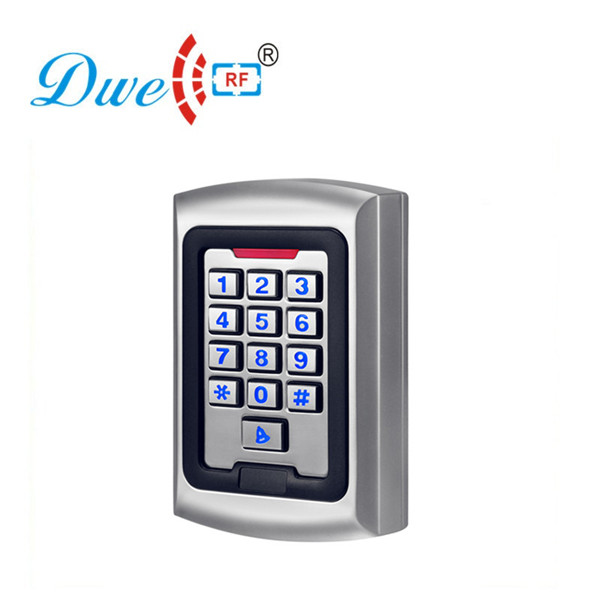 DWE CC RF access control keypad offline standalone rfid door access controller outdoor card reader metal rfid em card reader ip68 waterproof metal standalone door lock access control system with keypad 2000 card users capacity