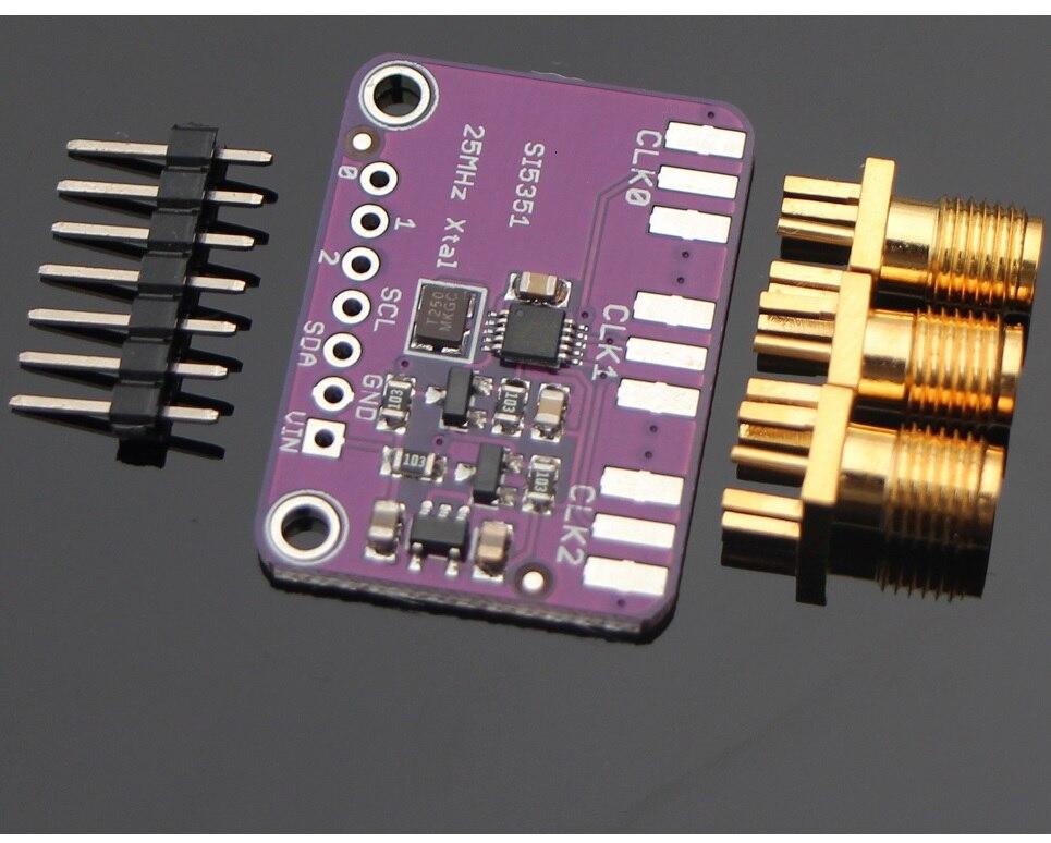 Si5351A I2C 25 МГц генератор часов плата прерывания 8 кГц до 160 МГц для Arduino