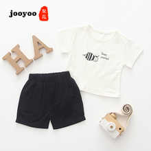 Baby Clothes Summer Girl 2pcs Short+Pants Cartoon Bee Cotton Boy Newborn jooyoo