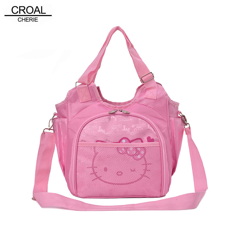 CROAL CHERIE Cute Hello Kitty Baby Diaper Bag Brand Maternity Nappy Bags For Mom Mummy Baby Changing Stroller Nappy Bags Kids