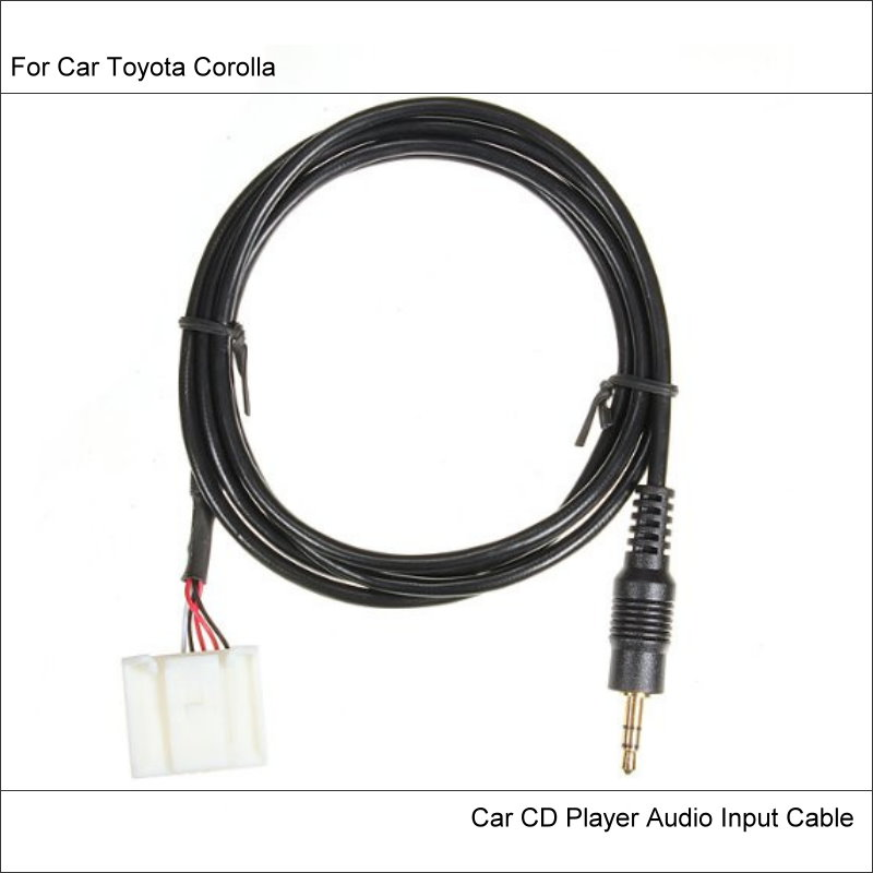 For Toyota Corolla Original Plugs To AUX Adapter 3.5mm Connector Car on audio receiver for iphone 5, audio y connector, cables and adapters, headphones and adapters, radio shack wi-fi adapters, cell phone to headset adapters, digital audio to stereo adapters, audio cord adapters, audio wire adapters, audio jack converter, discount audio headphone adapters, male to male rca jack adapters, trailer hitch connector adapters, rca connectors adapters, female stereo audio adapters, audio jack adapter, audio jack to speaker wire, audio to headphone adapters, audio cable, monitor connector adapters,