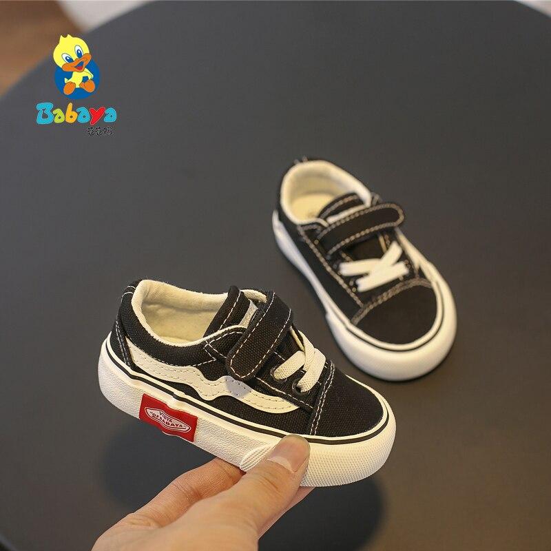 info pour c731b b08e4 € 10.69 47% de réduction|Babaya bébé chaussures fond souple bébé garçon  chaussures décontractées 1 3 ans 2019 printemps enfants toile chaussures ...