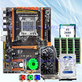 HUANAN ZHI deluxe X79 motherboard with M.2 slot mobo with CPU E5 2680 V2 CPU cooler RAM 32G(4*8G) 1TB 3.5' SATA HDD GTX1050Ti 4G