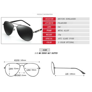 Image 4 - Mens Sunglasses Brand Designer Pilot Polarized Male Sun Glasses Eyeglasses gafas oculos de sol masculino For Man Driver Glasses