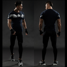 Captain America 3D T Shirt Men Fitness Compression Shirts Tops Male Print