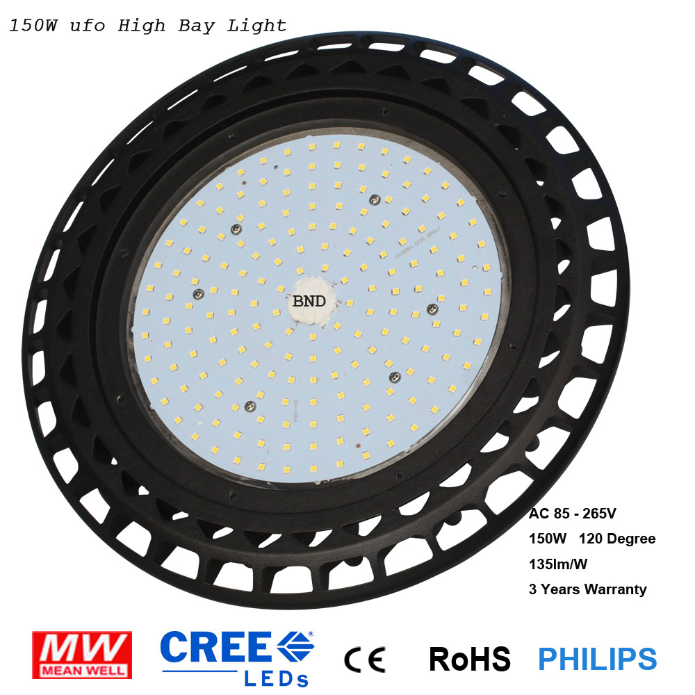 110V 220V 150W UFO High Bay Light LED  Industrial Lighting Light Ceiling Spotlight For Warehouse brightinwd ufo high bay light 100w 150w 200w smd2835 high power led floodlight for factory warehouse machine lamp