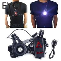 Safety Warning Night Waterproof Lamps Running Jogging Chest LED Light Flashlight