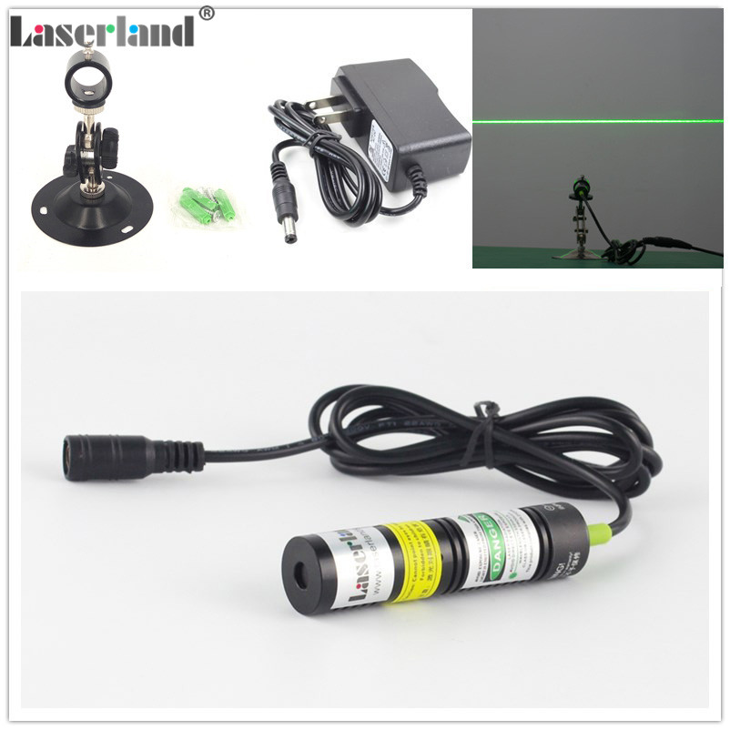 1875 532nm 50mW Green LINE Diode Laser Module Locator for Laser Swamp Haunted House Lighting Effects Cutting Machine adapt mount
