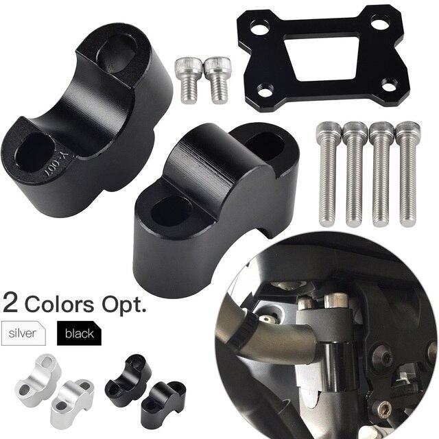 Guidão Riser De Montagem Grampo Para Yamaha MT07 FZ07 MT-07 FZ-07 MT 07 FZ 2014 2015 2016 2017 Guiador Riser suporte adaptador