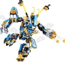 2017 scorching suitable LegoINGlys NinjagoINGlys Diving Dragon Armor Building Blocks modle with mini ninja figures brick toys present