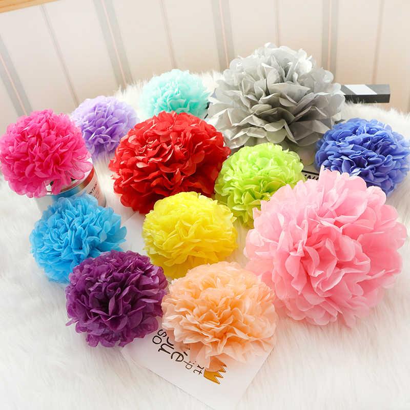 """12 """"30 Cm Suruh Keputusan Pengaruh Kertas Tisu Pom Pom Sebagai Bunga Bola untuk Dekorasi Ruang Pernikahan Perlengkapan Pesta DIY Putih Gantung bunga Kertas"""