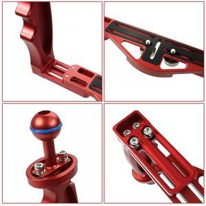 Image 5 - Soporte de bandeja para manija de buceo, montaje con varilla de extensión de obturador ajustable, cámara DSLR SLR, estuche impermeable, fotografía subacuática