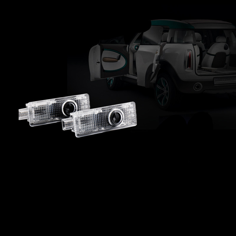 Tcart Auto LED Ghost Shadow Laser Projector Door Light Courtesy Lamp For Mini Cooper One R53 R55 R56 R57 R58 R59 R60 R61 F55 F56