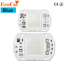 Blue COB LED Chip Lamp Smart IC 20W 30W 50W220V LED Matrix Diode Array For Spotlights Searchlight Street Floodlight(China)