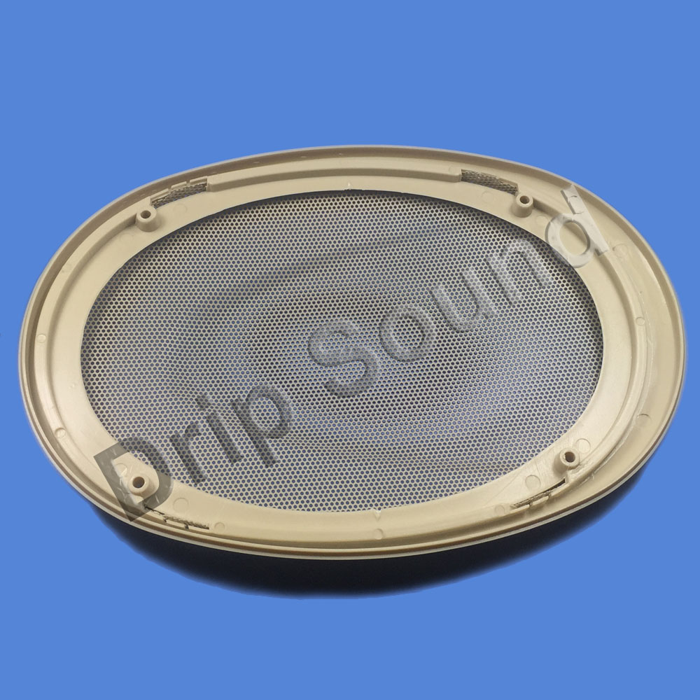 "2pc 4/""x6/"" 4x6 inch Speaker Cover Audio Decorative Circle Metal Mesh Grille Black"
