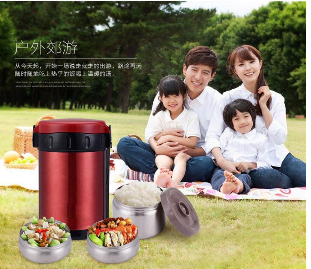 Портативный японский Коробки для обедов Еда thermo Коробки для обедов S для детей Термальность Bento Lunchbox пластик pp + 304 Нержавеющаясталь