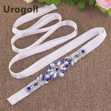 Women Fashion Luxury Handmade Colored Rhinestone Belt Bridal Wedding Belts Flower Satin Ribbon Belt For Formal Dress(China)
