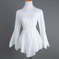 long sleeves going out sheer boho clothing black white tunic tops for women lace trim hippie online stores
