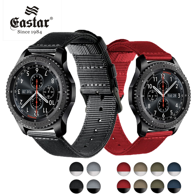 newest 9e299 2cc8d US $3.99 20% OFF|Waterproof Colorful Nylon Strap For Samsung Gear S3 Band  Frontier Strap For Gear S3 Classic Watchband 22mm Smart Watch Bracelet-in  ...