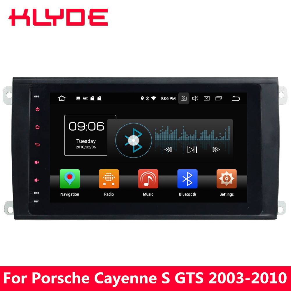 KLYDE 8 4G Android 8 Octa Core 4GB+32GB Car DVD Player Radio For Porsche Cayenne S GTS 2003 2004 2005 2006 2007 2008 2009 2010