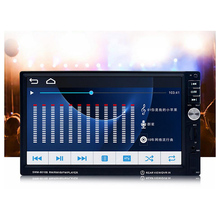 """2018 Auto Parts 7"""" Inch LCD Touch Screen Car Radio Autoradio 2 Din Player Bluetooth Car Audio Support Rear Camera Display"""