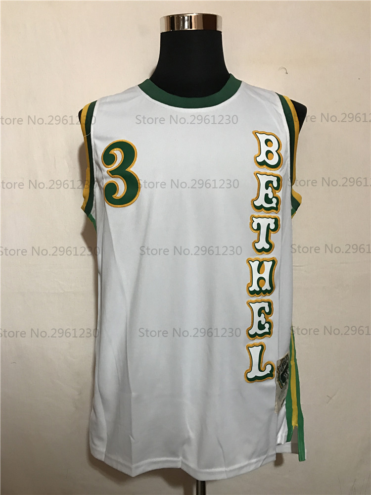 9b12b9eafa8 Aliexpress.com : Buy BONJEAN Cheap #3 Allen Iverson Jersey Bethel High  School Bruins Basketball Jerseys Stitched Throwback Shirts White from  Reliable ...