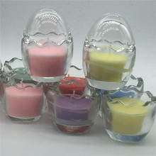 Wedding centerpieces diy candles promotion shop for promotional romantic eggs candle smoke free candles creative romantic glass holders colorful candles decoration diy wedding centerpieces junglespirit Image collections