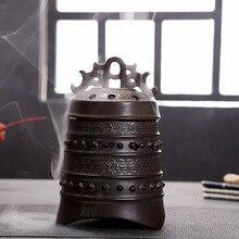 Retro Tripodia Incense Coil Burner Tower Incense Burner Incense Stick Incense Coil Holder Ceramic Censer Decoration