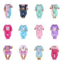 Jumpsuits+hat Clothes Wear Fit 43cm baby  , Children Best Birthday Gift Doll Hot Style