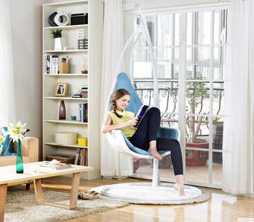 Крытый Европейский стиль Одиночная подвесная корзина подвесной стул. Качели. Открытый стул для балкона. Кресло-качалка
