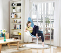 Indoor european-style single hanging basket hanging chair. Swing. The balcony outdoor chair. Rocking chair