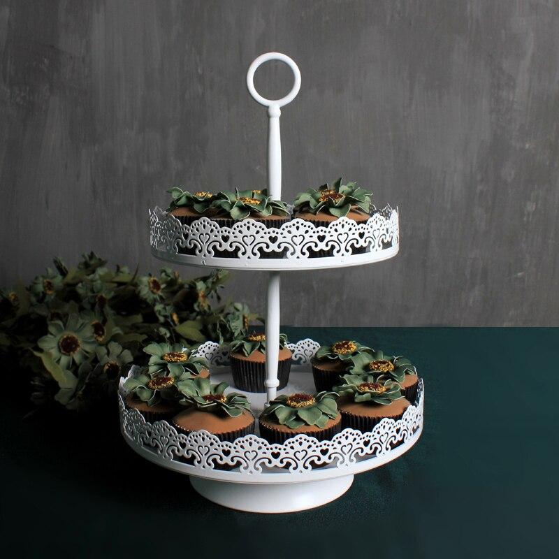 4 tiers cupcake stativ hvitt jern metall muffins cup kake stativ for - Kjøkken, spisestue og bar