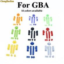 16 cores multi color substituição d almofadas botões keypads em fora de energia l r a b botões para gameboy advance quadro botões para gba